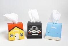 Pañuelo compañero de escritorio / Interacción entre producto y packaging