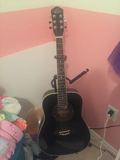 I love my guitar it's very calming and I play it all the time even though I'm terrible I love singing and playing instruments .😊 🎤🎤🎤🎹🎷🎺🎸🎻🎤🎧🎼