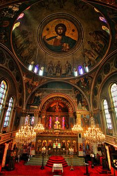 Spyridon Greek Orthodox Church, Washington Heights, NYC + + + NYC New York City Travel Honeymoon Backpack Backpacking Vacation Sacred Architecture, Church Architecture, Religious Architecture, Cathedral Basilica, Cathedral Church, Byzantine Icons, Byzantine Art, Religious Icons, Religious Art