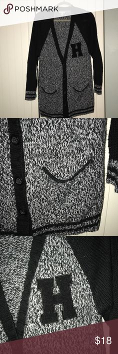 H letter thick sweater H letter sweater. Cable knit thick winter sweater. Super cute, looks like a lettermen jacket style sweater. Worn a few times. In really good condition. Forever 21 size large Forever 21 Sweaters Cardigans
