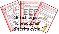 Writing prompts for different types of texts French Kids, Alphabet Writing, French Classroom, Teaching French, Learn French, Teaching Tools, Kids Learning, Elementary Schools, Literacy