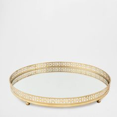 MIRRORED ROUND TRAY - Hotel Collection - Decoration | Zara Home United States of America