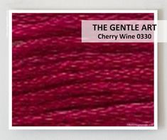 CHERRY WINE 0330 : Gentle Art GAST 6-strand embroidery floss   hand-dyed overdyed thread cross stitchThe Cottage Needle by thecottageneedle