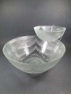 Vintage Arcoroc Rattan Chip and Dip Set, Home Decor, Entertaining, Kitchen Accessory - pinned by pin4etsy.com