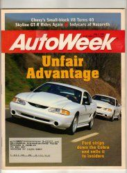 AutoWeek Car Magazine May 1 1995 Ford Mustang NASCAR Racing