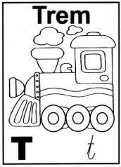 Letra T Alfabeto Para Colorir Desenho De Crianca Padroes De