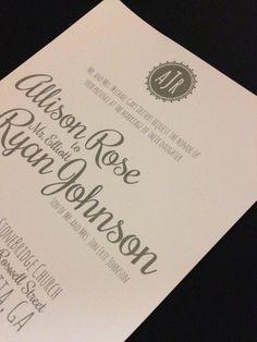Wedding invitation #catwestdesign