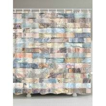 Brick Wall Print Waterproof Fabric Bath Shower Curtain