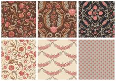 This damask pattern collection is a great example of the Maximalist Design trend. It was designed by Anastassia Behnke. See more examples in this blog post. Pattern Designs, Surface Pattern Design, Design Lab, Design Trends, Maximalist Interior, Flying Flowers, Repeating Patterns, Textile Design, Bold Colors