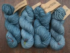 Madelinetosh CHUNKY 20.99 +.99ea Ship - Hand Dyed Merino Wool Chunky - Well Water Blue - 4 Available - Washable Merino Yarn - MSRP 24.00 by HollyPKnits on Etsy