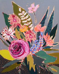 Lulie Wallace paintings via Conundrum.  Would love one of these in my home!