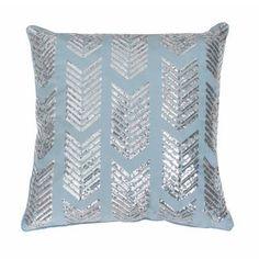 Hadara Sequin Arrow Feather-filled Throw Pillow