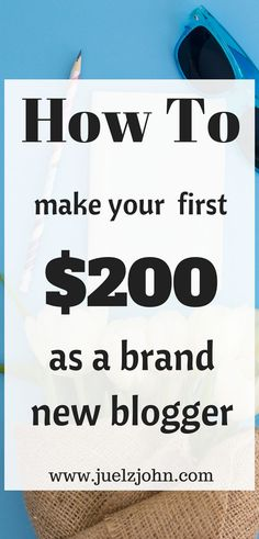 Learn the best tips on how to make your first $200 blogging.Monetize your blog through affiliate marketing,sponsored posts,offering services and much more.easy to implement tips|blogmonetization|sponsoredposts|#makemoneyblogging#makemoneyonline#affiliatemarketing#makeyourfirst$200blogging#