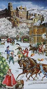 Heidelberg Christmas advent calendar from Germany