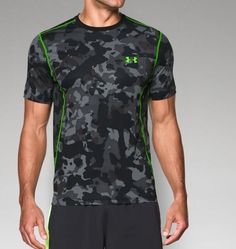 Men's HeatGear® Sonic Printed Fitted Short Sleeve