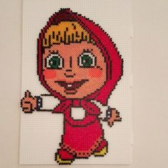 Masha - Masha and The Bear hama mini beads  by latanadelconiglio
