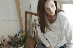 visual optimism; fashion editorials, shows, campaigns & more!: yumi by an le for sachin and babi spring / summer 2015