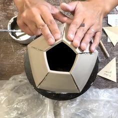 """3,589 Likes, 67 Comments - J U L I A C L A I R E (@juliaclaireclay) on Instagram: """"Fun time-lapse on how I dart and fold the bottoms of my 5 sided pots! #alwaysjammin #potteryvideo…"""""""