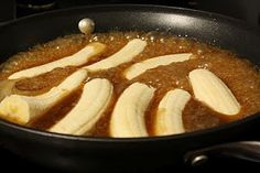 Julie Blanner Coordinately Yours Wedding Event Planning Design that Celebrates Life: Bananas Foster Recipe Banana Recipes, Fruit Recipes, Desert Recipes, Sweet Recipes, Cooking Recipes, Just Desserts, Delicious Desserts, Yummy Food, Yummy Yummy