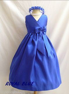Blue flower girl dress. View more tips & ideas on our Facebook Page : https://www.facebook.com/BoutiqueBridalParty