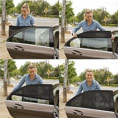 ShadeSox Universal Fit Car Side Window Baby Sun Shade | Protects Your Baby and Older Kids from the Sun, Fits All (99%) Cars! Most SUVs! (2 Piece) | Travel eBook Included!