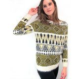 GRAPHIC PERU SOFT KNITTED PULL - Trendy en betaalbare Fashion & Lifestyle musthaves - webshop www.fashiongarden.be - online shopping