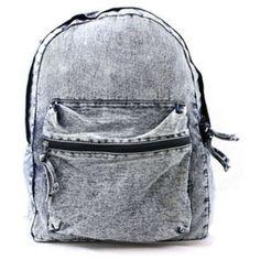Vintage Denim Washed Backpack ($35) ❤ liked on Polyvore featuring bags, backpacks, accessories, bolsas, vintage denim backpack, vintage rucksack, vintage bags, daypack bag and knapsack bag