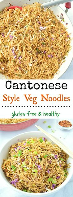 one pot Cantonese Style Veg Noodles is an quick n easy recipe that comes together in less than 30 minutes. Perfect recipe for a busy weeknights – simple, gluten-free, healthy and full of flavor!O