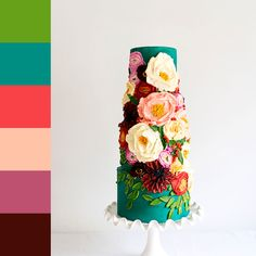 How To Decorate Wedding Cupcakes – Cake To Do Buttercream Flowers, Buttercream Cake, Pretty Cakes, Beautiful Cakes, Wedding Cake Designs, Wedding Cakes, Painted Cakes, Decorated Cakes, Unique Cakes