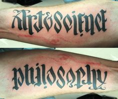 Ambigram ... ArtScience Versus Philosophy by ~TheseAreMyScars on deviantART