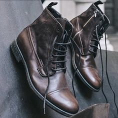 Time for a style reboot? Try the rugged leather Jaylon boots! Men Boots, Autumn, Guys, Winter, Leather, Shoes, Style, Winter Time, Swag