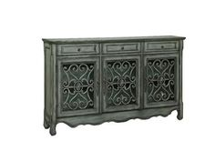 Shop+for+Coast+to+Coast+Accents+3+Drawer+3+Door+Credenza,+56417,+and+other+Living+Room+Cabinets+at+Gavigans+Home+Furnishings+in+Baltimore,+Bel+Air,+Glen+Burnie,+Dundalk,+and+Westminster,+MD.+European+flair+and+rustic+accents+make+this+three+drawer+credenza+one+of+a+kind.+Finished+in+a+neutral+Hood+Grey,+the+architectural+details+are+enhanced+by+the+aged+patina.