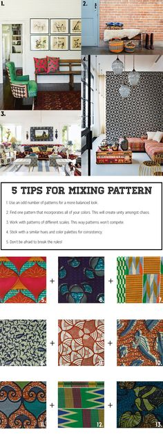 5 Tips for Mixing Patterns