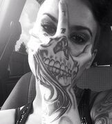 22 Best Face Skull Hand Tattoo Images Face Tattoos Skull Hand