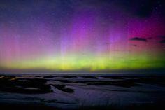 Auroras boreales desde Marquette, Míchigan, Estados Unidos. 20 de abril de 2014 Crédito: Shawn Malone