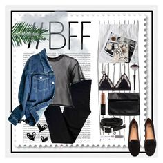 """""""BFF"""" by emelievv ❤ liked on Polyvore featuring CLUSE, Oris, LoveStories, J Brand, MM6 Maison Margiela, Nelly, Yves Saint Laurent, Sephora Collection, Nika and Billion Dollar Brows"""
