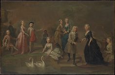 Uvedale Tomkyns Price (1685–1764) and Members of His Family Bartholomew Dandridge (British, London 1691–in or after 1754 London) Date: possibly early 1730s