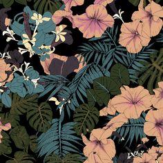 tropical flower print