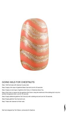 GOING WILD FOR CHESTNUTS Nail look designed by Terri Silacci, exclusively for Sephora. #nailspotting #Sephora #beauty #SephoraOPI