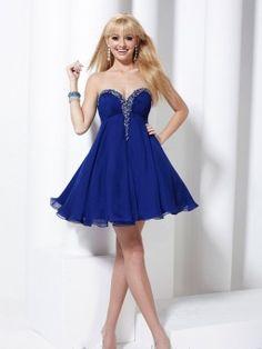 Empire Sweetheart Chiffon Short/Mini Beading Homecoming Dresses