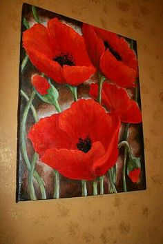 What is Your Painting Style? How do you find your own painting style? What is your painting style? Acrylic Flowers, Acrylic Art, Watercolor Flowers, Watercolor Paintings, Tulip Painting, Arte Floral, Red Poppies, Red Tulips, Flower Art