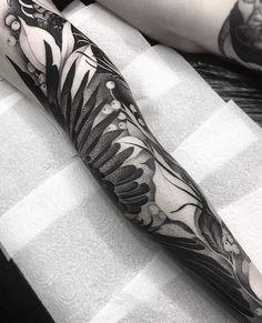 Leg Tattoos, Tattoos For Guys, Sleeve Tattoos, Cool Tattoos, Pretty Tattoos, Beautiful Tattoos, Art Nouveau Tattoo, Blackout Tattoo, Infinity Tattoos