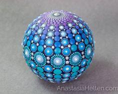 Mandala stone hand painted by AnastasiaHelten on Etsy