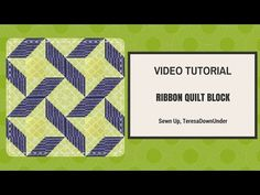2-minute video tutorial: Ribbon quilt - quick and easy block - YouTube