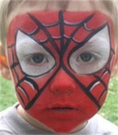 Spiderman Face Paint---My Braylon would LOVE this!