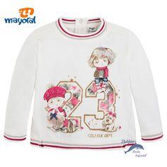 """Camiseta niña bebe MAYORAL manga larga """"23"""""""