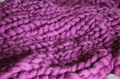 Chunky Blanket Large blanket .Grande punto. Chunky knit