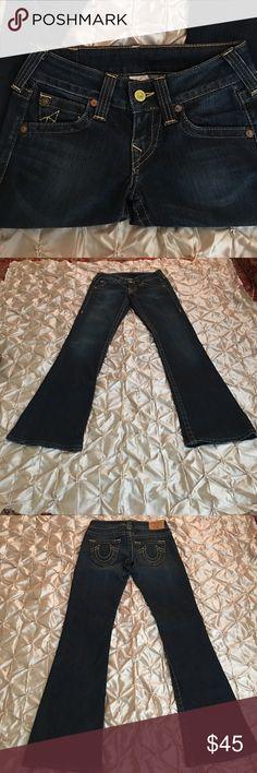 "True Religion World Tour Bell Bottom Denim Jeans True Religion World Tour Bell Bottom Denim Jeans Approx Length 31"" True Religion Jeans Flare & Wide Leg"