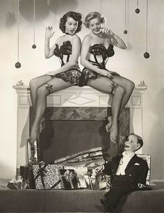 Charlie McCarthy and some Christmas friends. Ventriloquist dummies. So creepy.