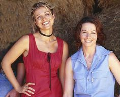 Would love to see these two together again.! :0). Tess and Claire. McLeods Daughters, great tv, show. Natural beauty, gorgeous, portrait, photo